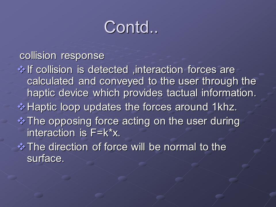 Contd.. collision response