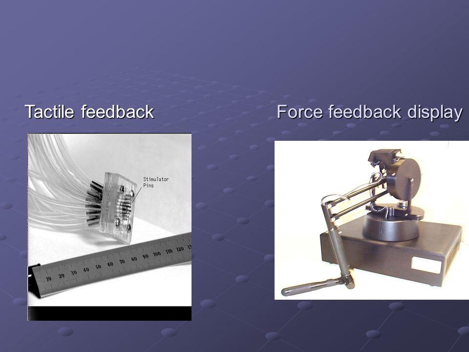 Tactile feedback Force feedback display