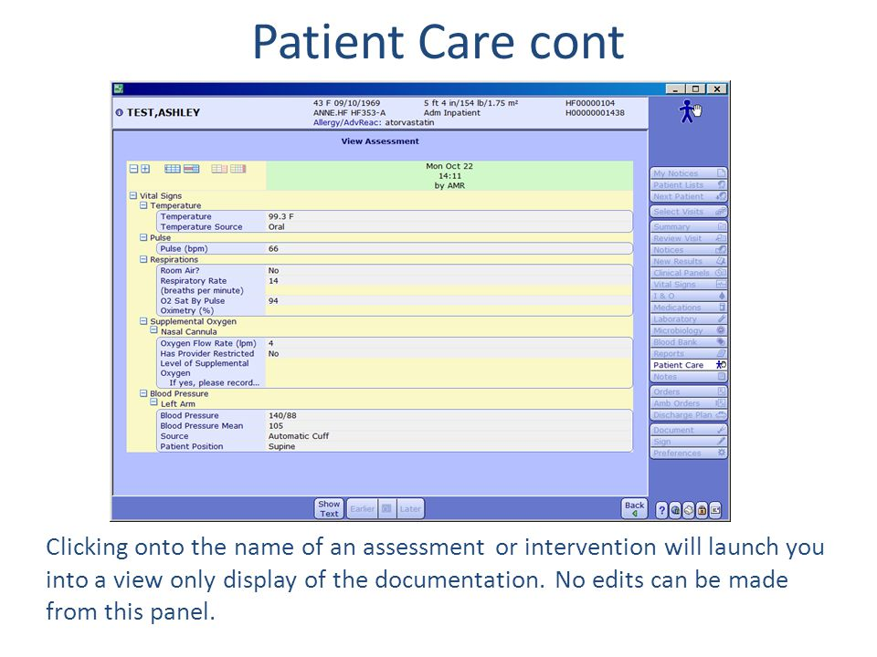 Patient Care cont