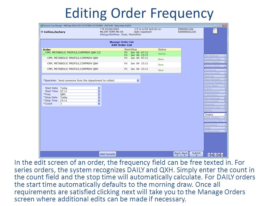 Editing Order Frequency