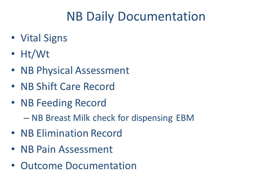 NB Daily Documentation
