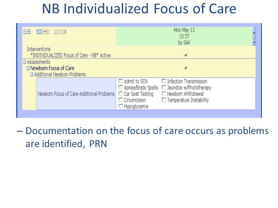 NB Individualized Focus of Care