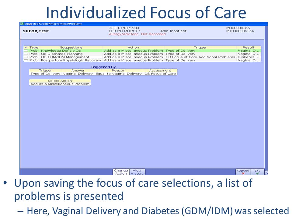 Individualized Focus of Care
