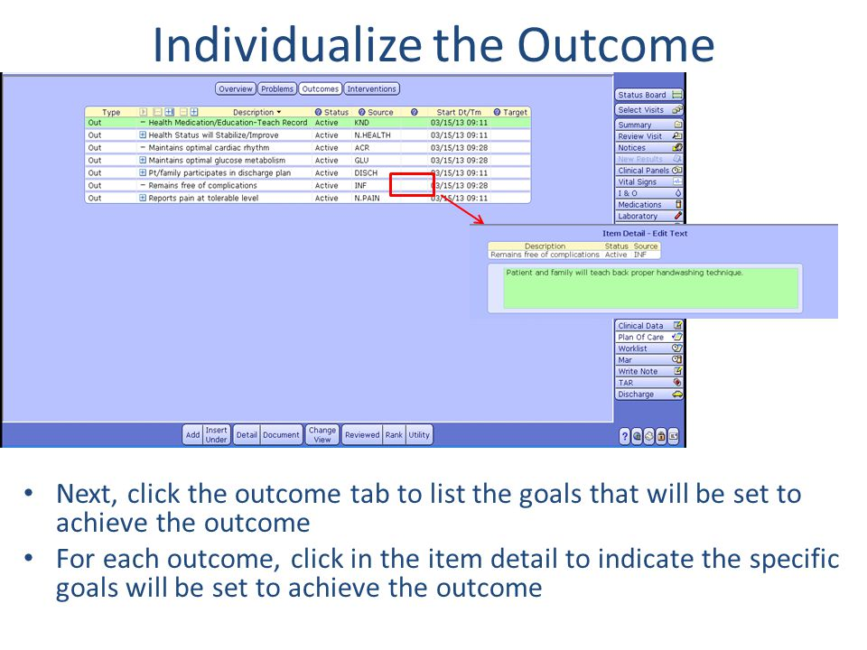 Individualize the Outcome