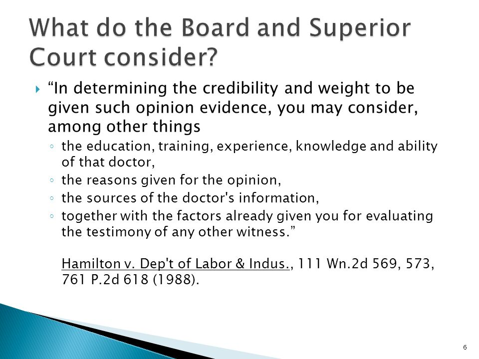 What do the Board and Superior Court consider