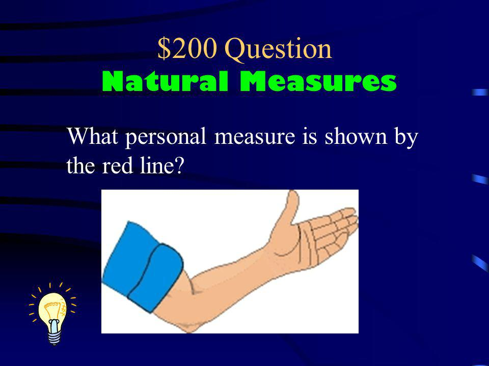 $200 Question Natural Measures