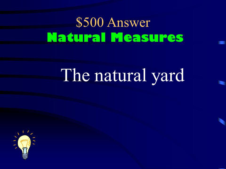 $500 Answer Natural Measures