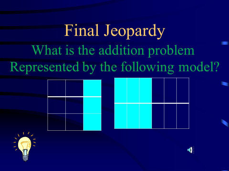 Final Jeopardy What is the addition problem