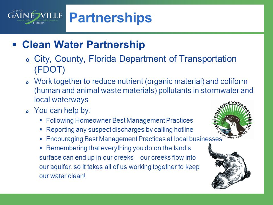 Partnerships Clean Water Partnership