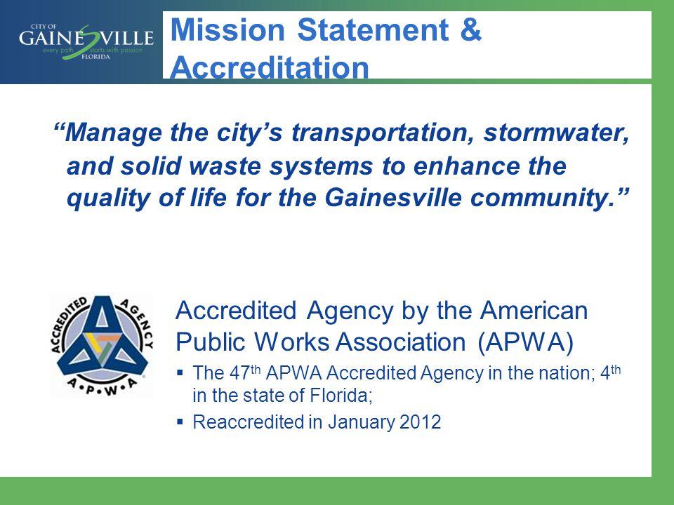 Mission Statement & Accreditation