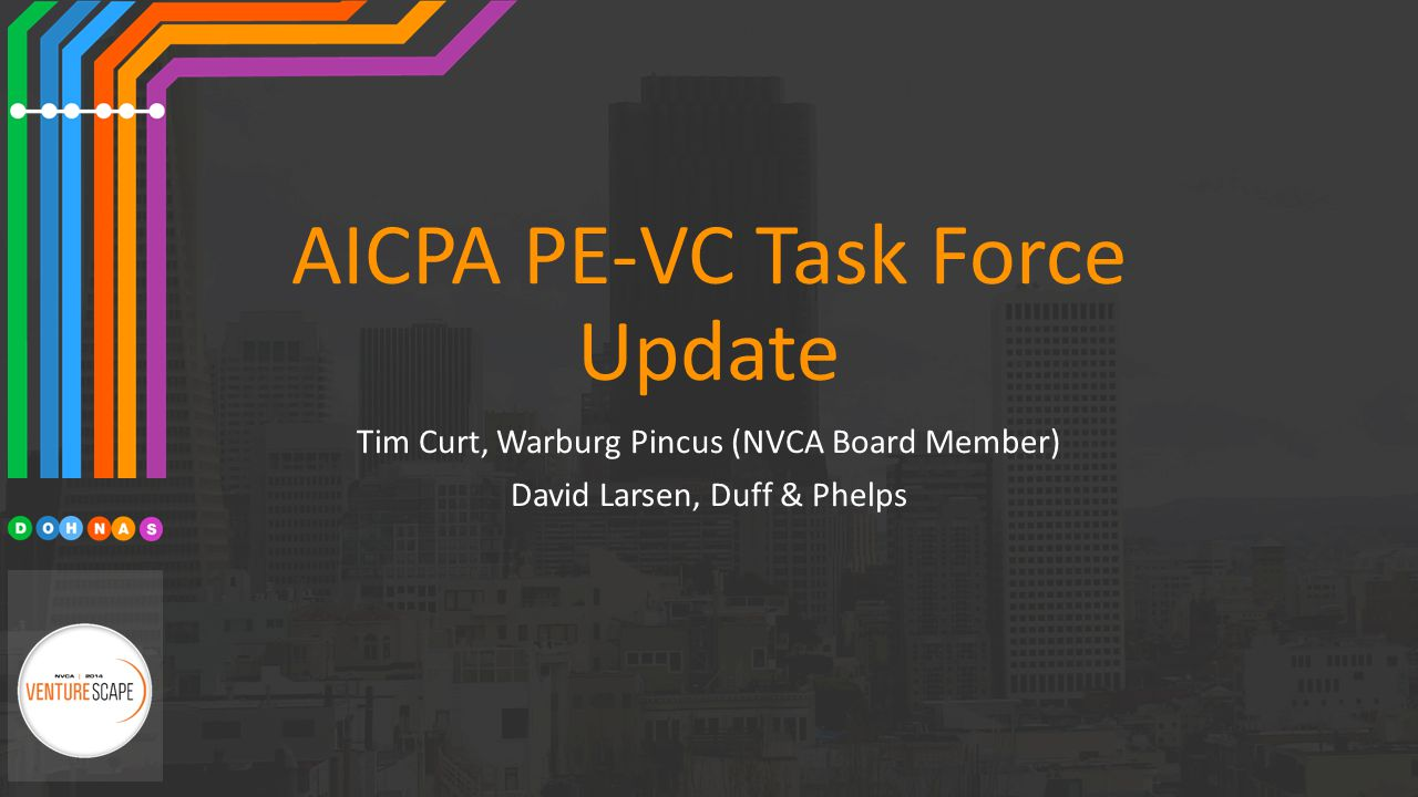AICPA PE-VC Task Force Update