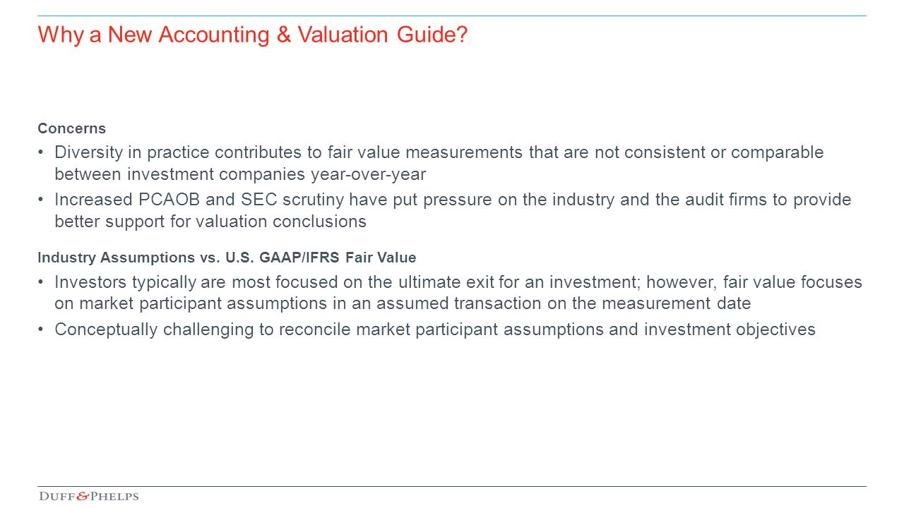 Why a New Accounting & Valuation Guide