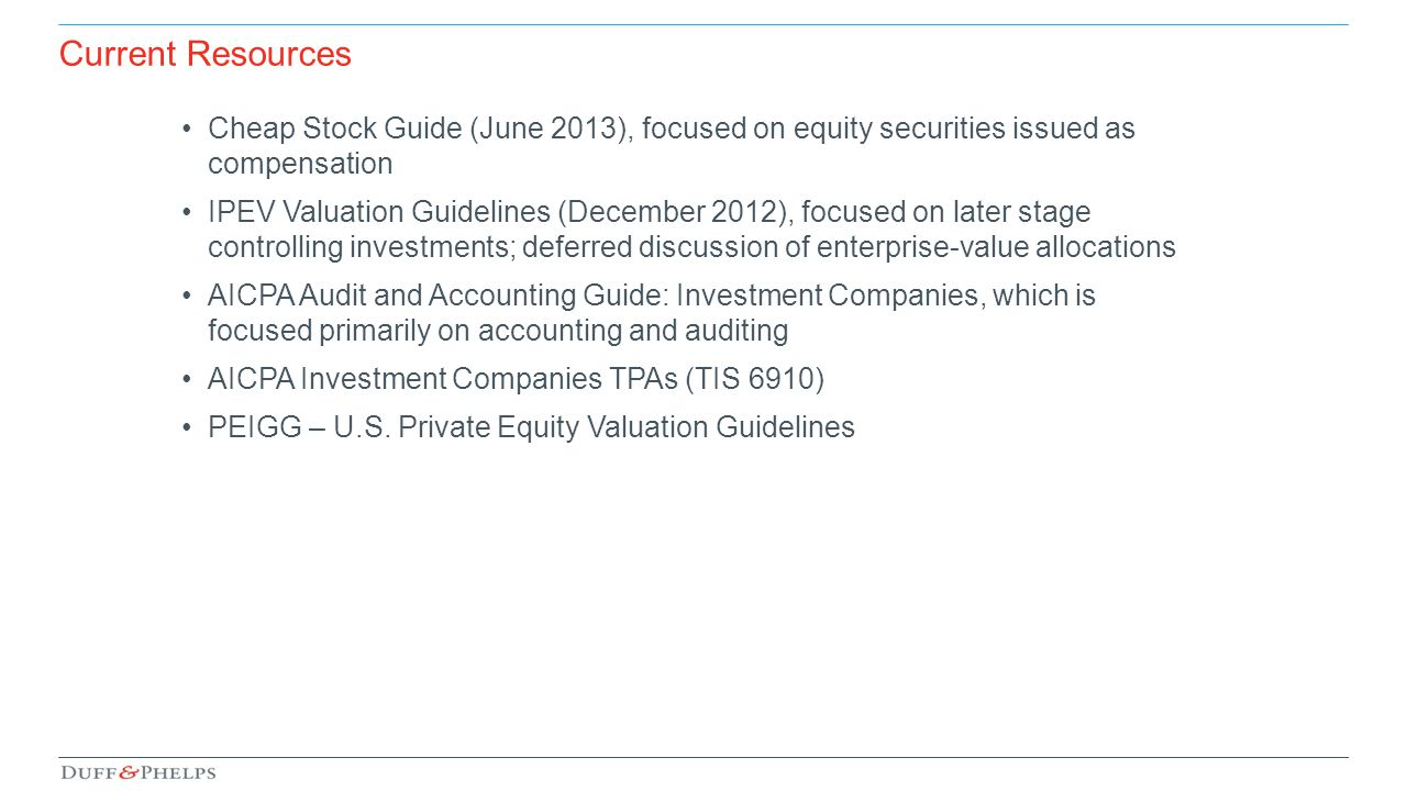 Current Resources Cheap Stock Guide (June 2013), focused on equity securities issued as compensation.