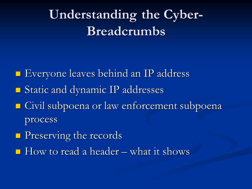 Understanding the Cyber-Breadcrumbs