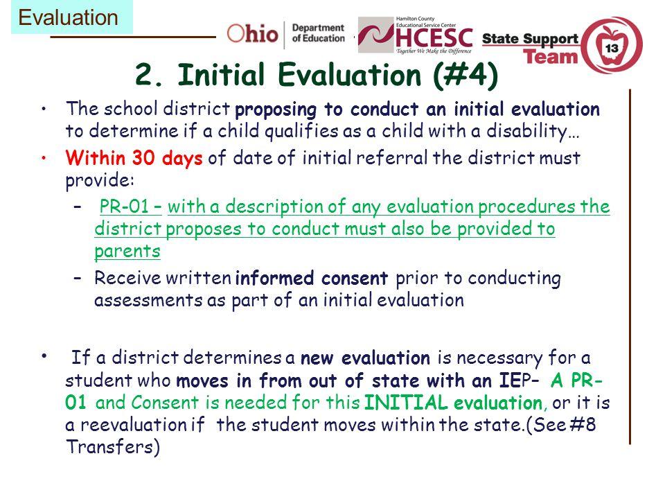 2. Initial Evaluation (#4)