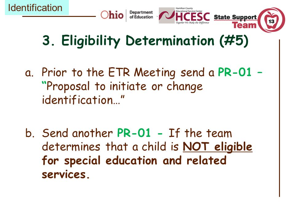 3. Eligibility Determination (#5)
