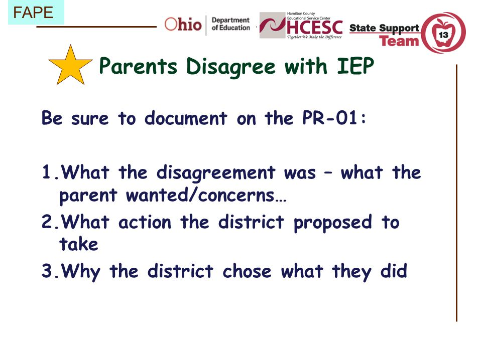 Parents Disagree with IEP