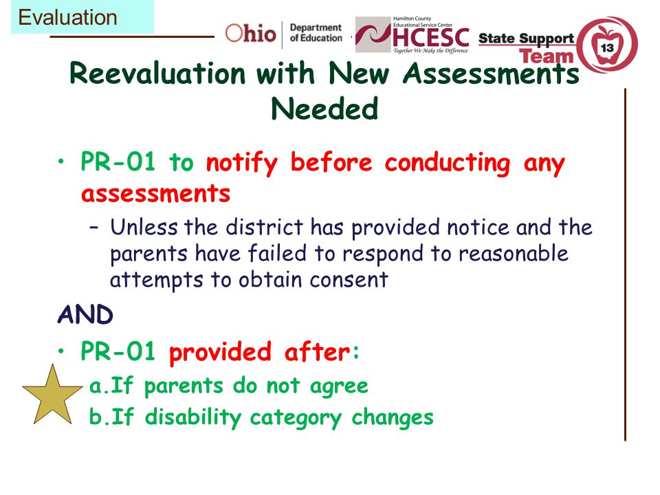 Reevaluation with New Assessments Needed