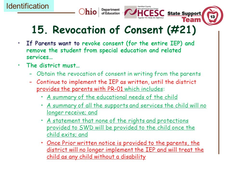 15. Revocation of Consent (#21)