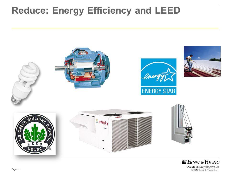 Reduce: Energy Efficiency and LEED