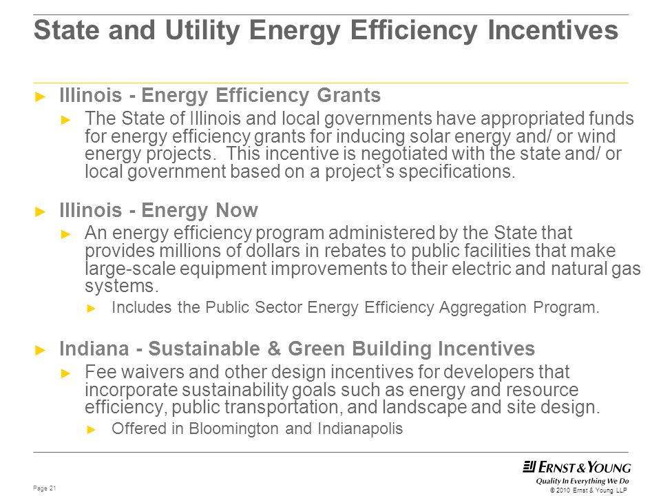 State and Utility Energy Efficiency Incentives