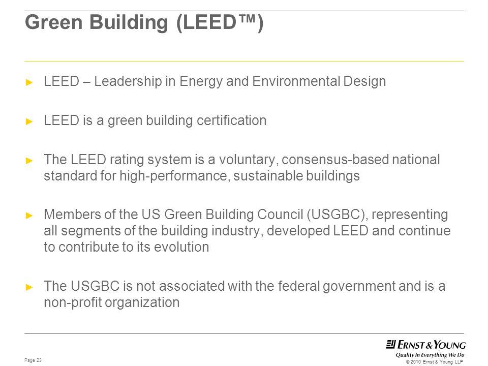 Green Building (LEED™)
