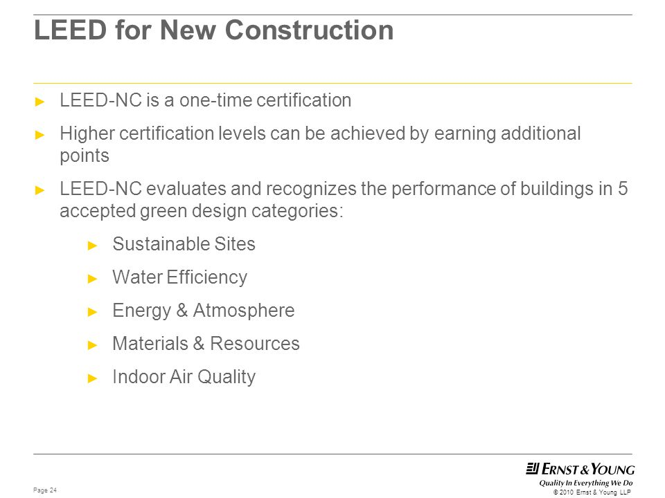 LEED for New Construction