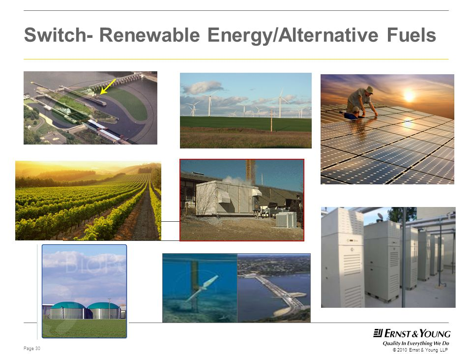 Switch- Renewable Energy/Alternative Fuels