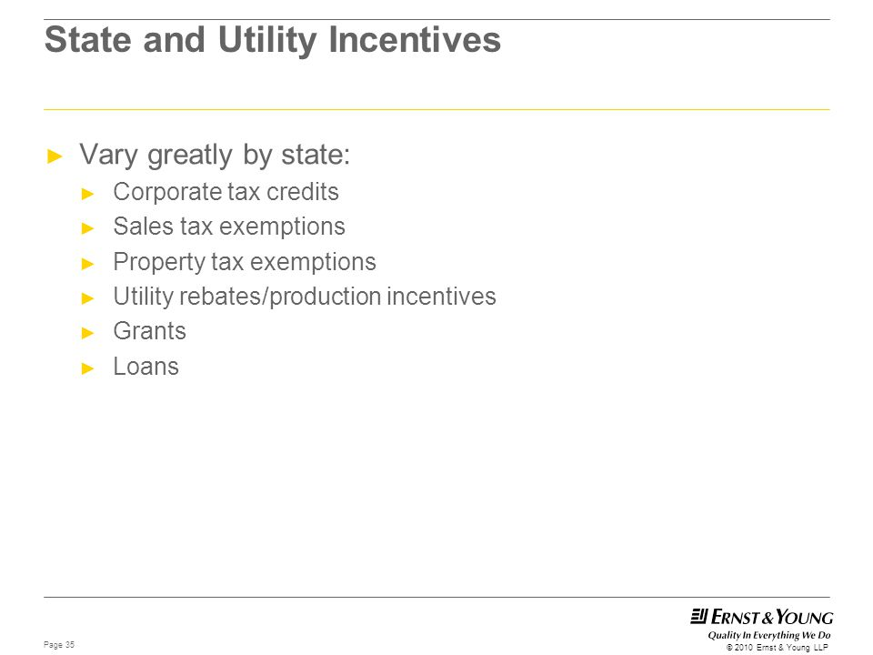 State and Utility Incentives
