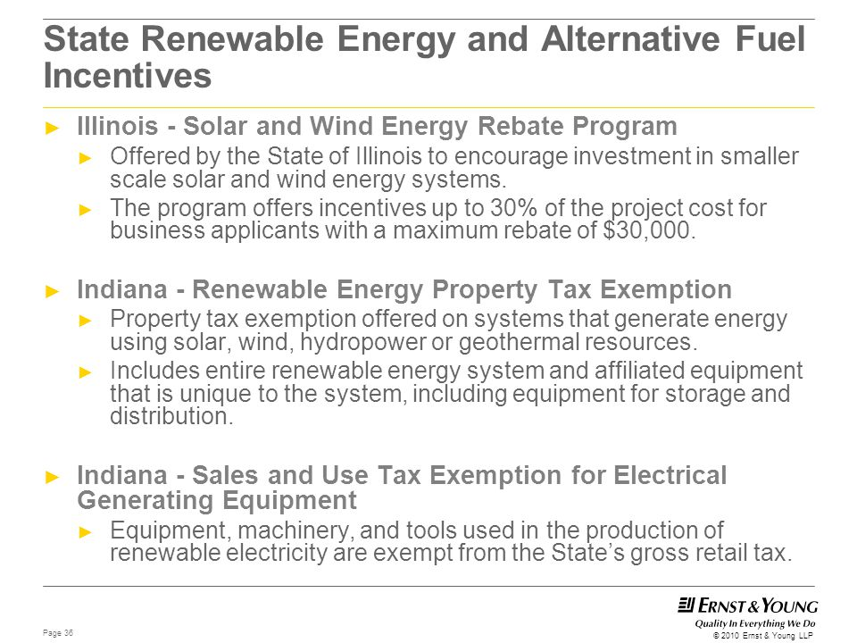State Renewable Energy and Alternative Fuel Incentives