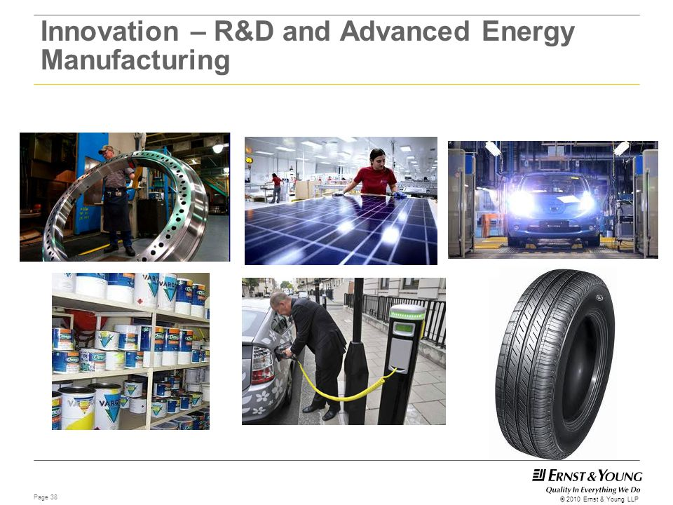 Innovation – R&D and Advanced Energy Manufacturing