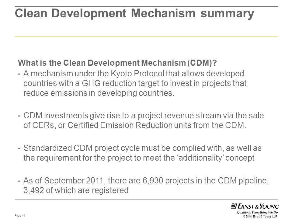 Clean Development Mechanism summary