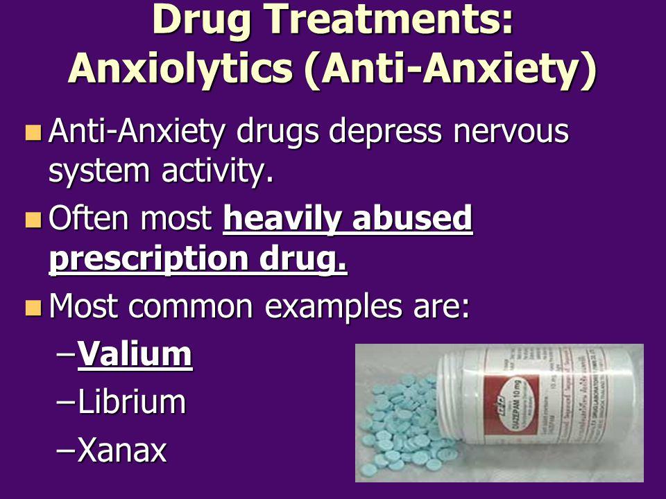 Drug Treatments: Anxiolytics (Anti-Anxiety)