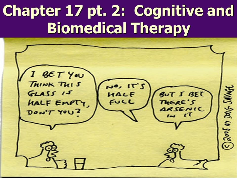 Chapter 17 pt. 2: Cognitive and Biomedical Therapy