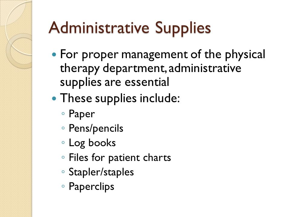 Administrative Supplies