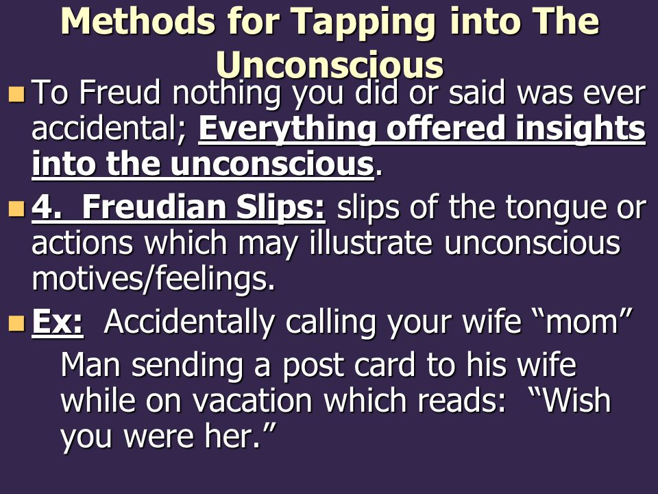 Methods for Tapping into The Unconscious