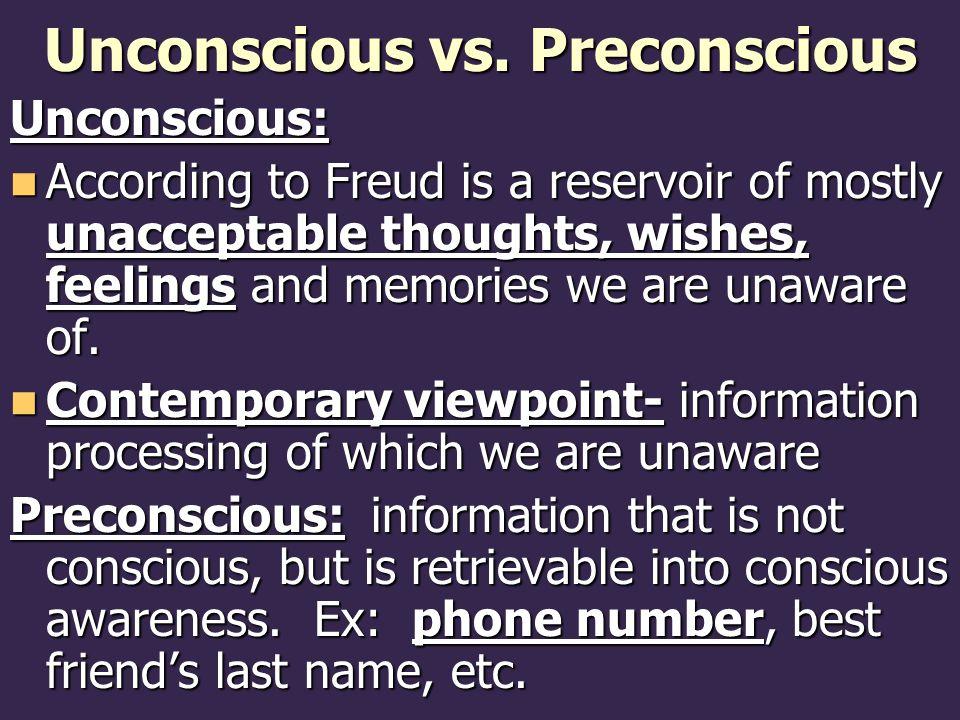 Unconscious vs. Preconscious