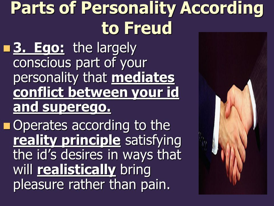 Parts of Personality According to Freud