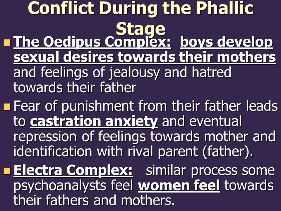 Conflict During the Phallic Stage
