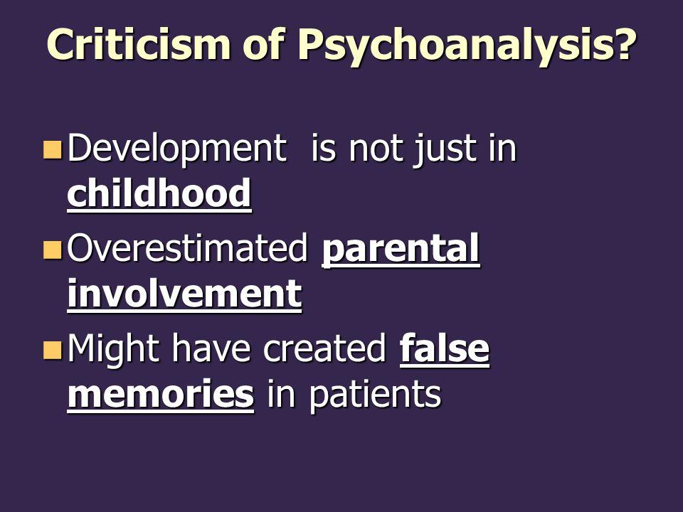 Criticism of Psychoanalysis