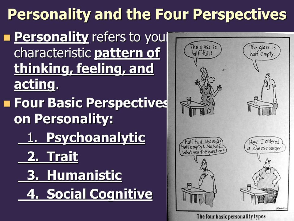 Personality and the Four Perspectives