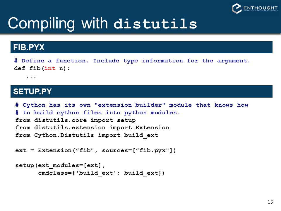 Compiling with distutils