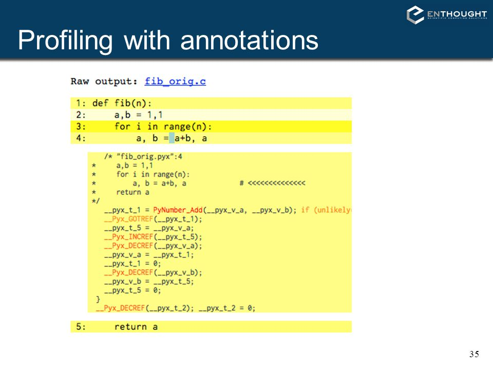 Profiling with annotations