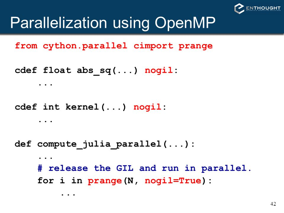 Parallelization using OpenMP