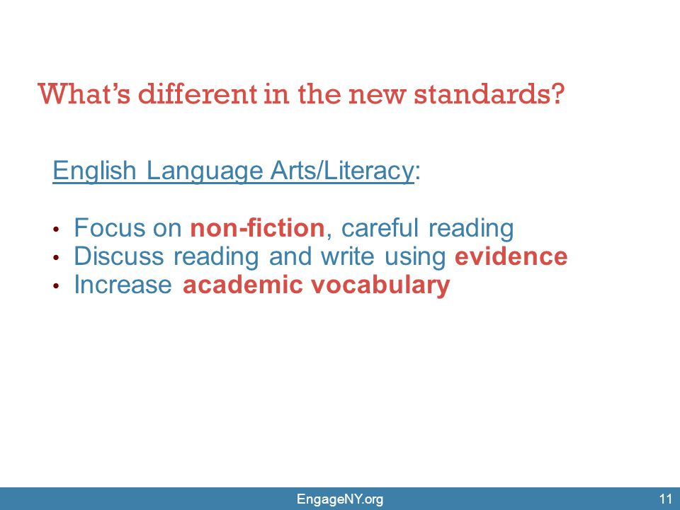 What's different in the new standards