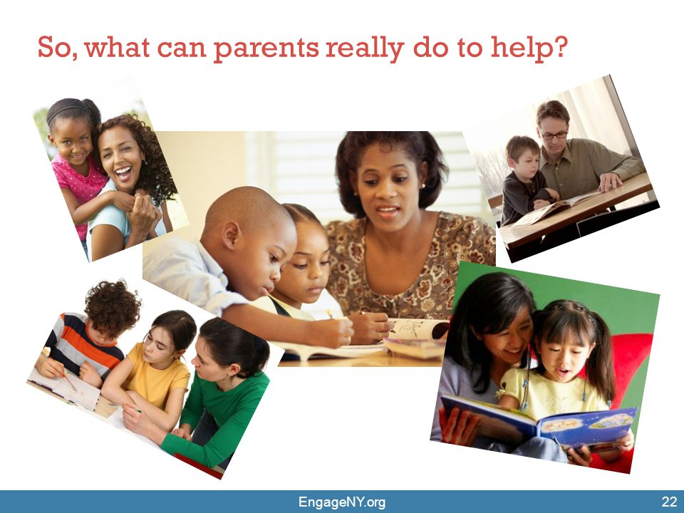 So, what can parents really do to help