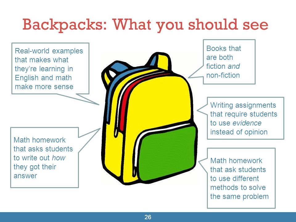 Backpacks: What you should see