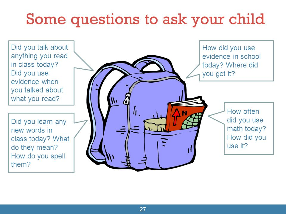 Some questions to ask your child