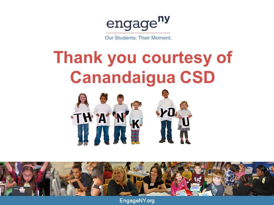 Thank you courtesy of Canandaigua CSD