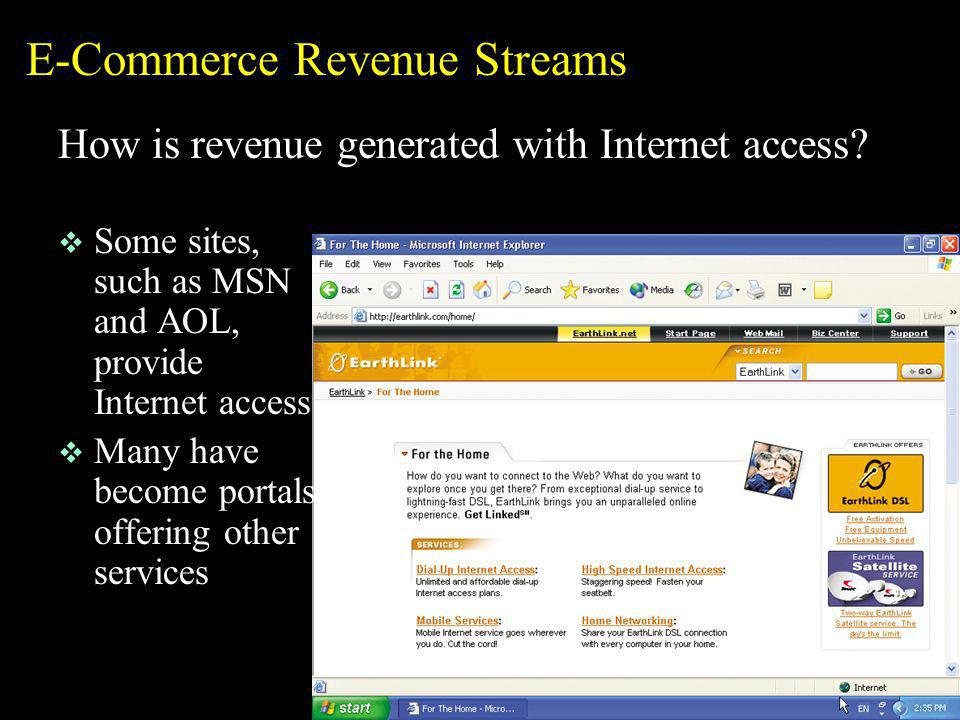 E-Commerce Revenue Streams
